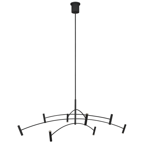Aerial 60 Chandelier matte black 3000K 90 CRI integrated led 90 cri 3000k 120v (t20/t24)