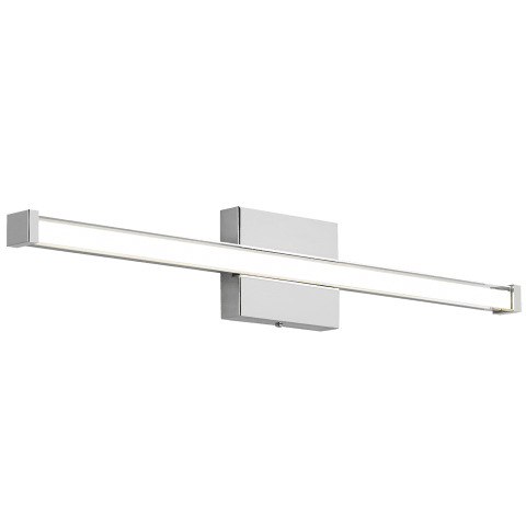 Gia Bath 300lms/ft Clear satin nickel 3000K 90 CRI led 90 cri 3000k