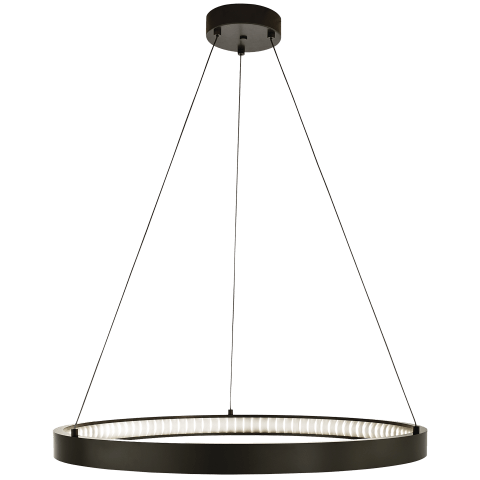 "Bodiam 30 Suspension 30"" Diameter antique bronze 3000K 80 CRI led 80 cri 3000k 120v"