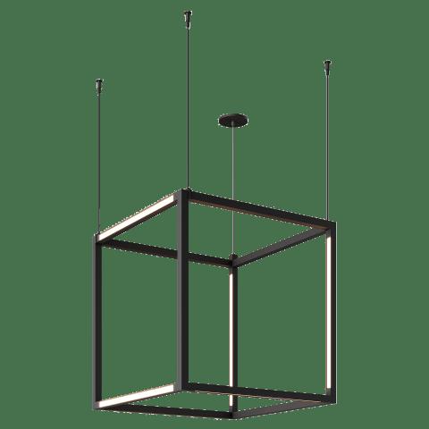 Brox Cube 24 Pendant Cube nightshade black 3000K 90 CRI 24v remote canopy