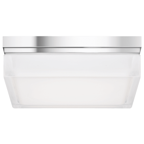 Boxie Large Flush Mount Large chrome 3000K 90 CRI led 3000k 120v
