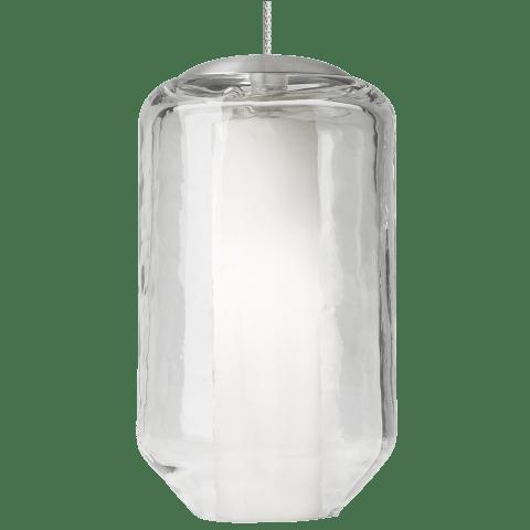 Mini Mason Pendant FreeJack Clear satin nickel 2900K 100 CRI 12 volt xenon (t20)
