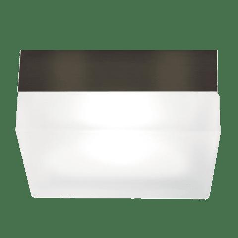 90 Large Flush Mount Large Frost antique bronze compact fluorescent programmed start 120v-277v