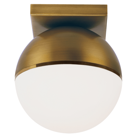 Akova Flush Mount Aged Brass/Bright Brass 2700K 90 CRI  led 90 cri 2700k 120v
