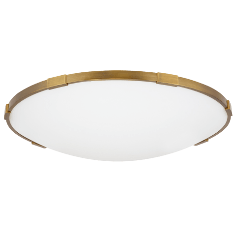 "Lance 24 Flush Mount 24"" Diameter aged brass 3000K 90 CRI led 90 cri 3000k 120v"