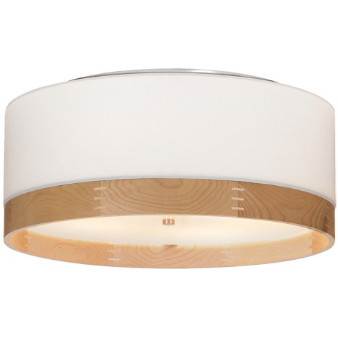 Topo Flush Mount White satin nickel no lamp