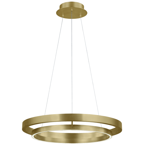 Grace 30 Chandelier aged brass 3000K 90 CRI integrated led 90cri 3000k 120v (t24)