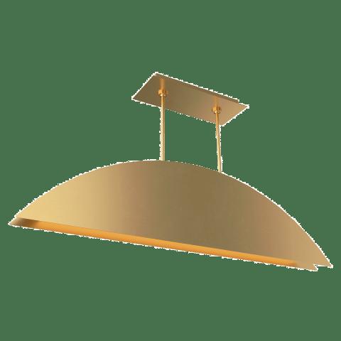 Bau 50 Linear Suspension natural brass 3000K 90 CRI integrated led 90 cri 3000k 120v