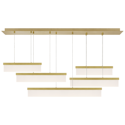 Sweep Linear Chandelier aged brass 3000K 90 CRI integrated led 90 cri 3000k 120v