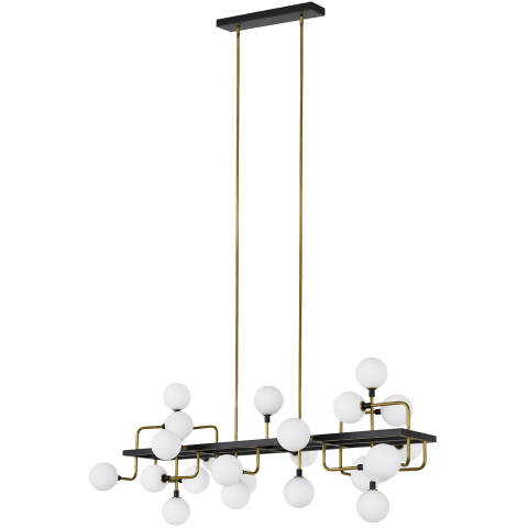 Viaggio Linear Chandelier Opal/Brass Not Applicable no lamp
