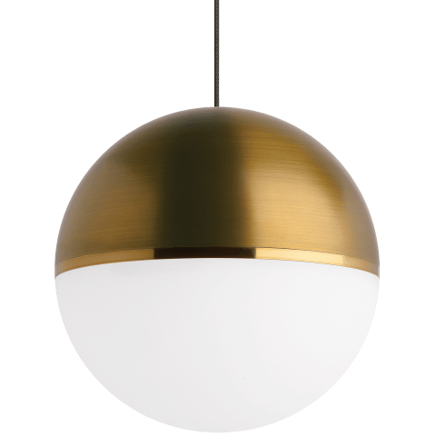 Akova Pendant MonoPoint Aged Brass/Bright Brass satin nickel 2700K 90 CRI  12 volt led 90 cri 2700k