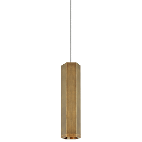 Blok Small Pendant MonoPoint Small aged brass/aged brass no lamp