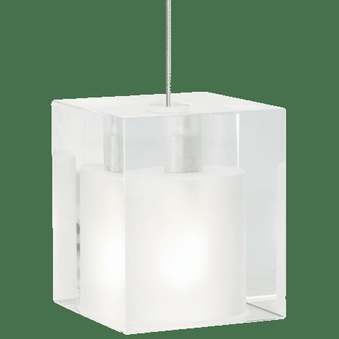 Cube Pendant MonoPoint Frost satin nickel 12 volt halogen (t20)
