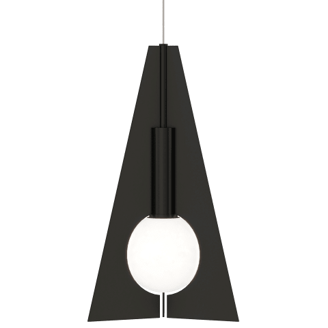 Mini Orbel Pyramid Pendant MonoPoint nightshade black 3000K 90 CRI integrated led 90 cri 3000k 12v