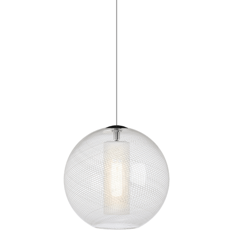 Mini Palestra Pendant MonoPoint Opal/Clear satin nickel no lamp