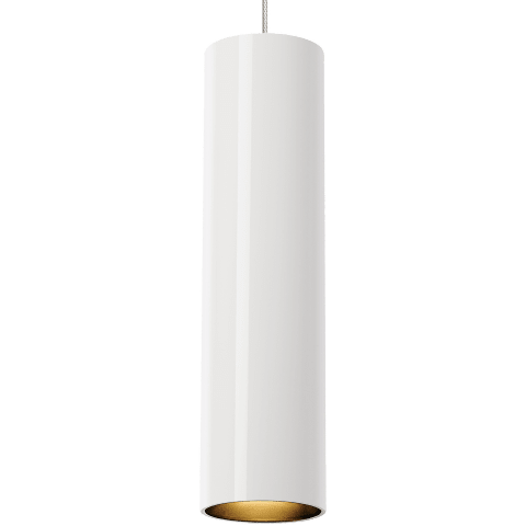 Piper Pendant MonoPoint white/satin nickel no lamp