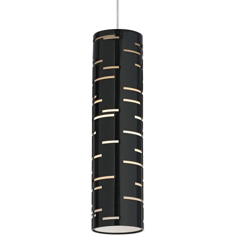 Revel Pendant MonoPoint Gloss Black satin nickel 12 volt halogen (t20)