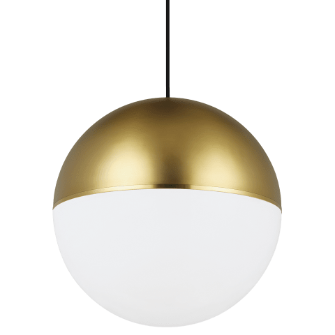 Akova Grande Pendant Aged Brass/Bright Brass no lamp