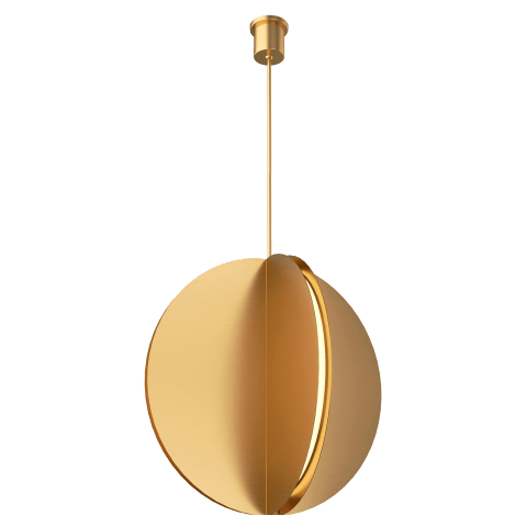 Bau 28 Pendant natural brass 3000K 90 CRI integrated led 90 cri 3000k 120v-277v unv