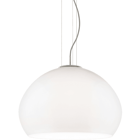 Cleo Grande Pendant Grande White satin nickel no lamp