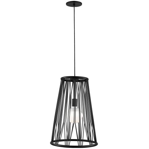 Diamant Pendant matte black no lamp