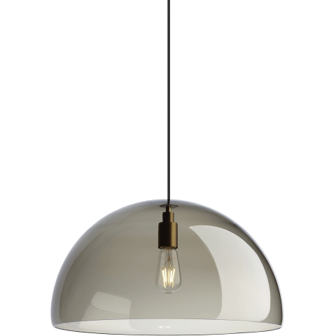 Duomo Pendant Standard Transparent Smoke aged brass Not Applicable no lamp