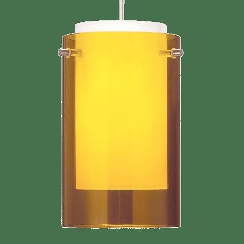 Echo Small Pendant Small Amber satin nickel no lamp