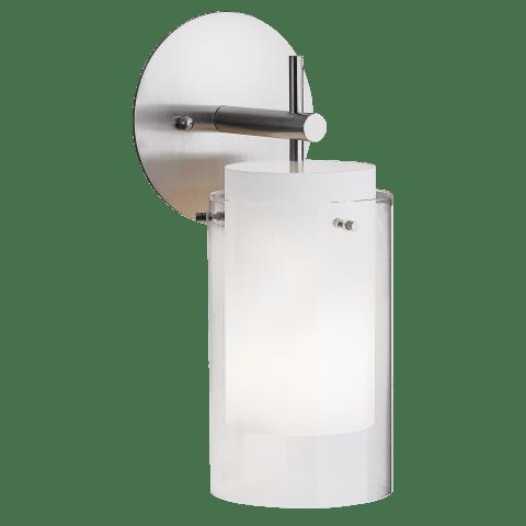 Echo Wall Clear satin nickel no lamp