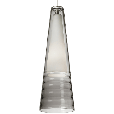 Isella Pendant Smoke satin nickel incandescent 120v