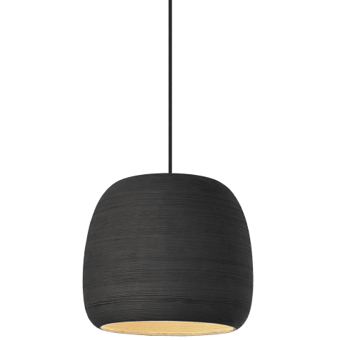 Karam Small Pendant Small Black/Black no lamp