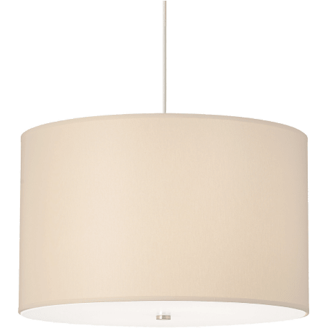 Lexington Pendant Washable Ivory satin nickel no lamp