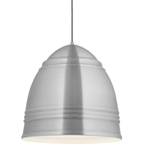 Loft Grande Pendant Brushed Aluminum w/ White Interior no lamp