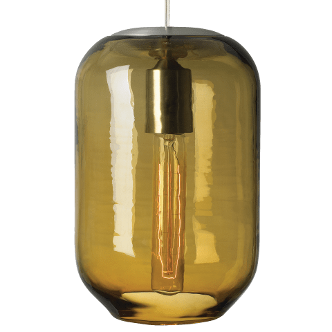 Mason Classic Pendant Amber satin nickel no lamp