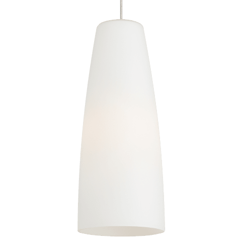 Mati F16 Pendant White satin nickel no lamp