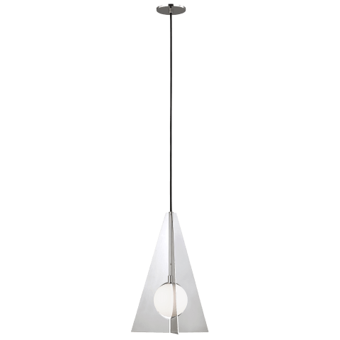 Orbel Pyramid Pendant Polished Nickel 3000K 90 CRI bi-pin g9 led 90 cri 3000k 120v (t20/T24)