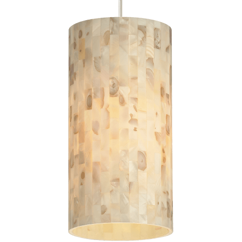 Playa Line-Voltage Pendant Natural satin nickel 2700K 90 CRI a19 led 90 cri 2700k 120v (t20/t24)