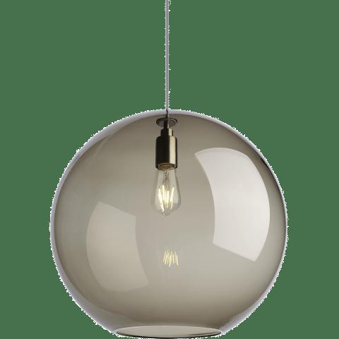 Palla Pendant Standard Transparent Smoke satin nickel Not Applicable no lamp