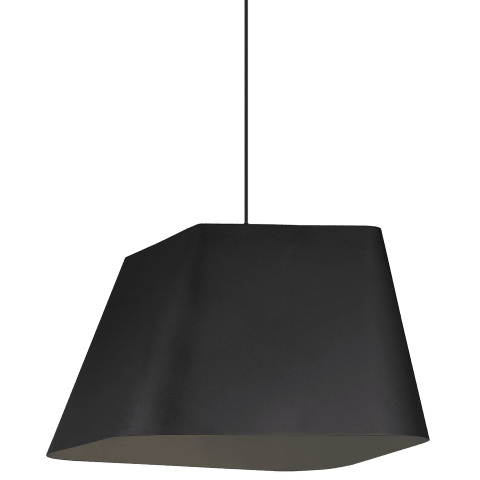 Rhonan Grande Pendant Textured Black/Black no lamp