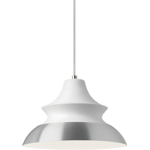 Togan Pendant White/Aluminum no lamp