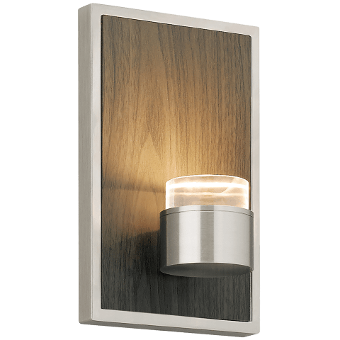Dobson Wall Weathered Gray Oak satin nickel 2700K 90 CRI led 90 cri 2700k 120v