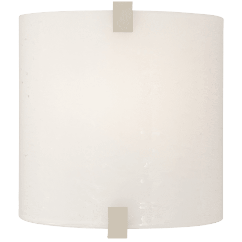 Essex Wall Glass Surf White satin nickel 90 CRI led 90 cri 2700k 120v (t24)