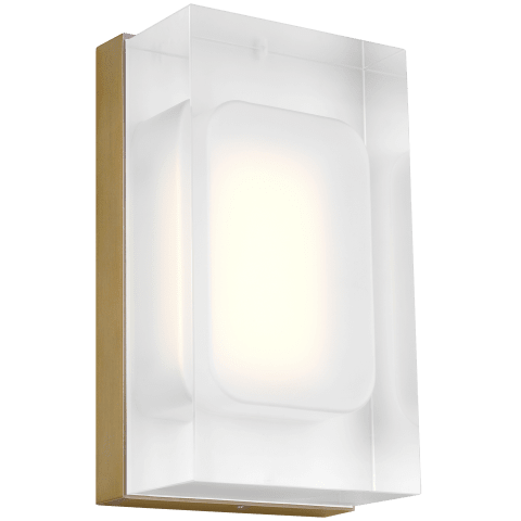 Milley 7 Wall aged brass 3000K 90 CRI integrated led 90 cri 3000k 120v-277v unv (t24)
