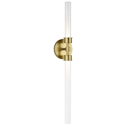 Linger Wall/Bath 2-Light Vanity natural brass 3000K 90 CRI