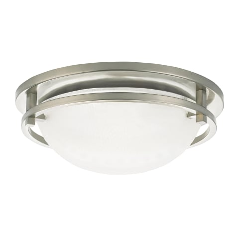 Eternity Large Three Light Flush Mount Brushed Nickel