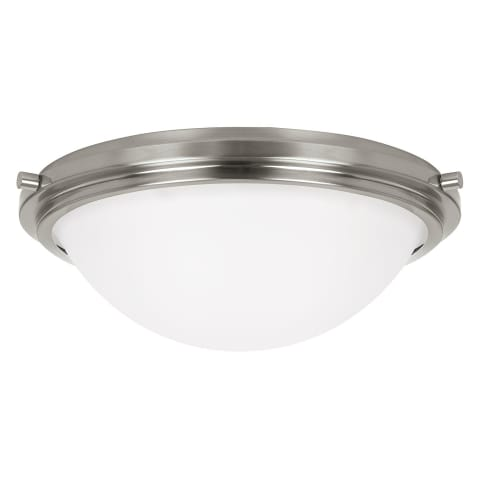 Winnetka Two Light Flush Mount Brushed Nickel Bulbs Inc