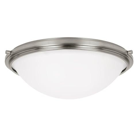 Winnetka Three Light Flush Mount Brushed Nickel Bulbs Inc