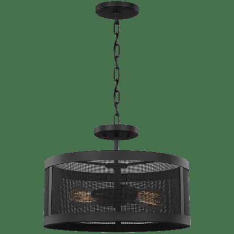 Gereon Two Light Semi-Flush Convertible Pendant Black