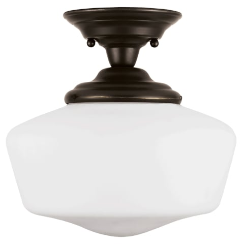 Academy One Light Semi-Flush Mount Heirloom Bronze
