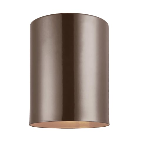 Outdoor Cylinders Small LED Flush Mount Bronze