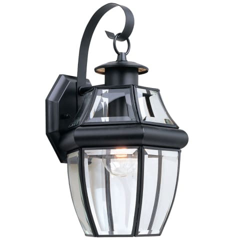 Lancaster One Light Outdoor Wall Lantern Black